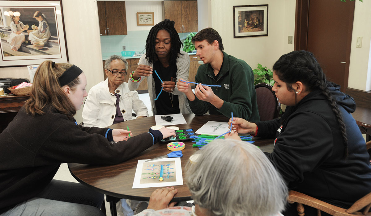 Students participate in the Martin Luther King Jr. Day of Service