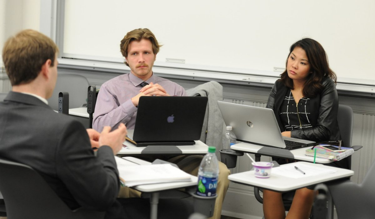 Students in a business field study