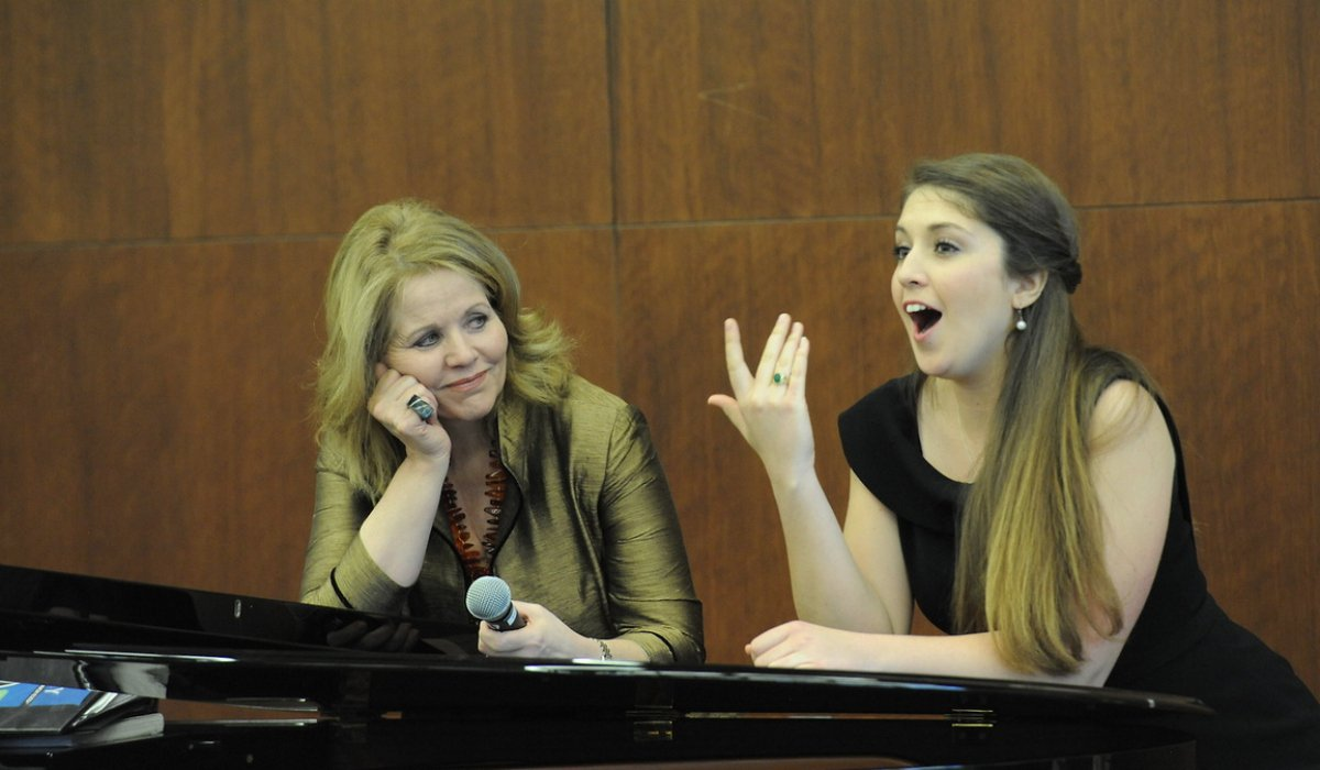 Student being coached by Renee Fleming