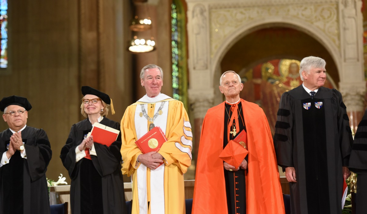 President Garvey and Cardinal Wuerl