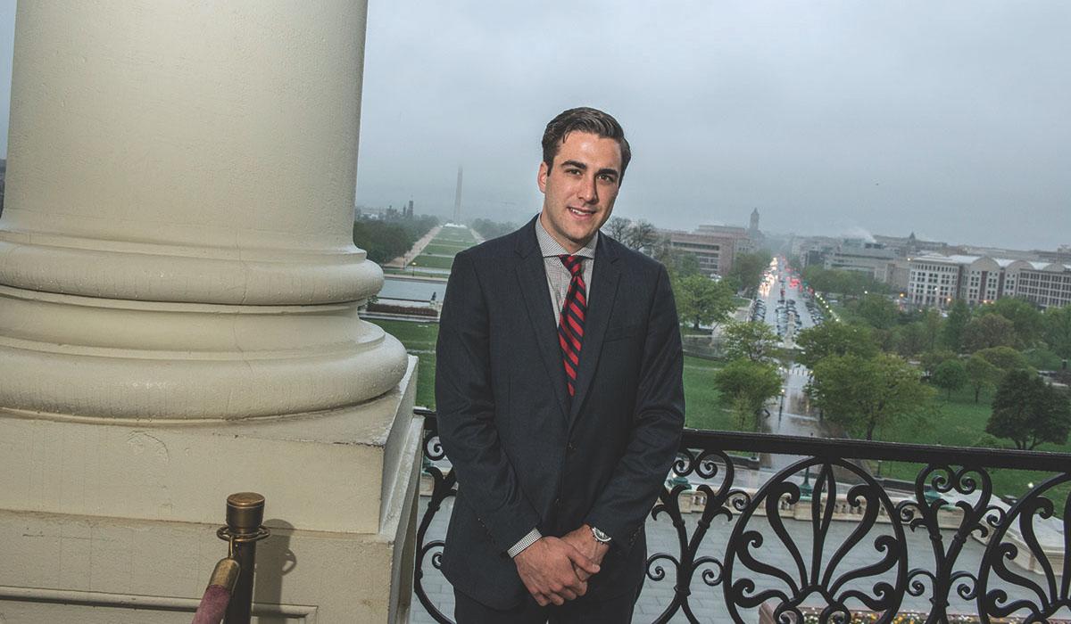 estudiante en el Capitolio