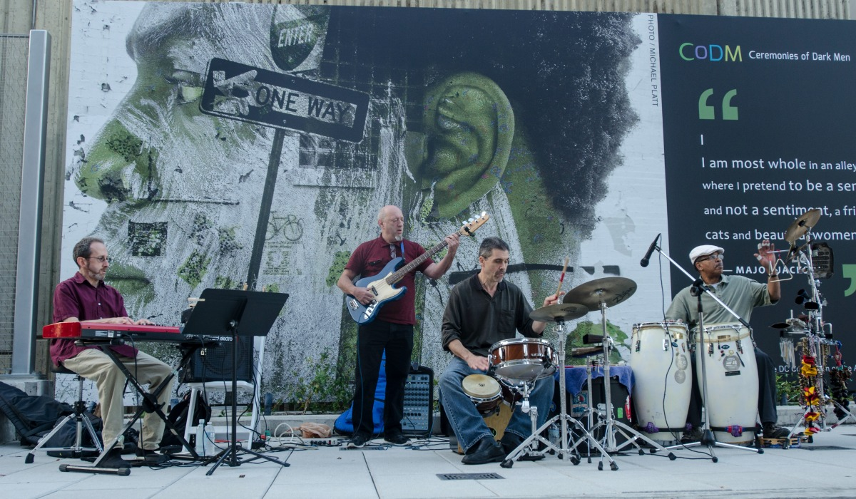 Band performs on Monroe Street Market