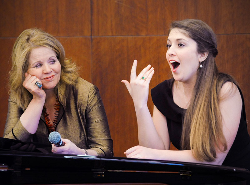 World-renowned soprano Renée Fleming and Julie Britt, Master Class student