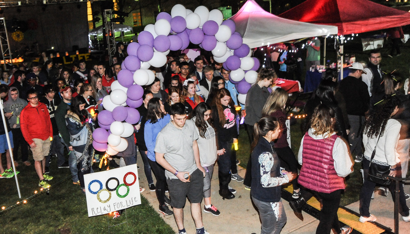 Students Fight Cancer with All-Night Relay for Life