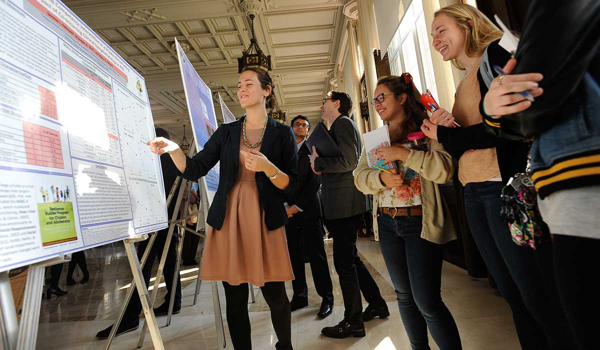 Researchers were challenged to present their work in a way that it could be understood by students and faculty both within and outside of the researcher's area of specialty.