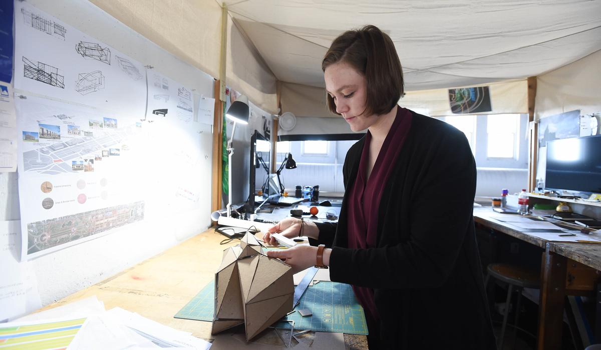Architecture student Tatiana Amundsen