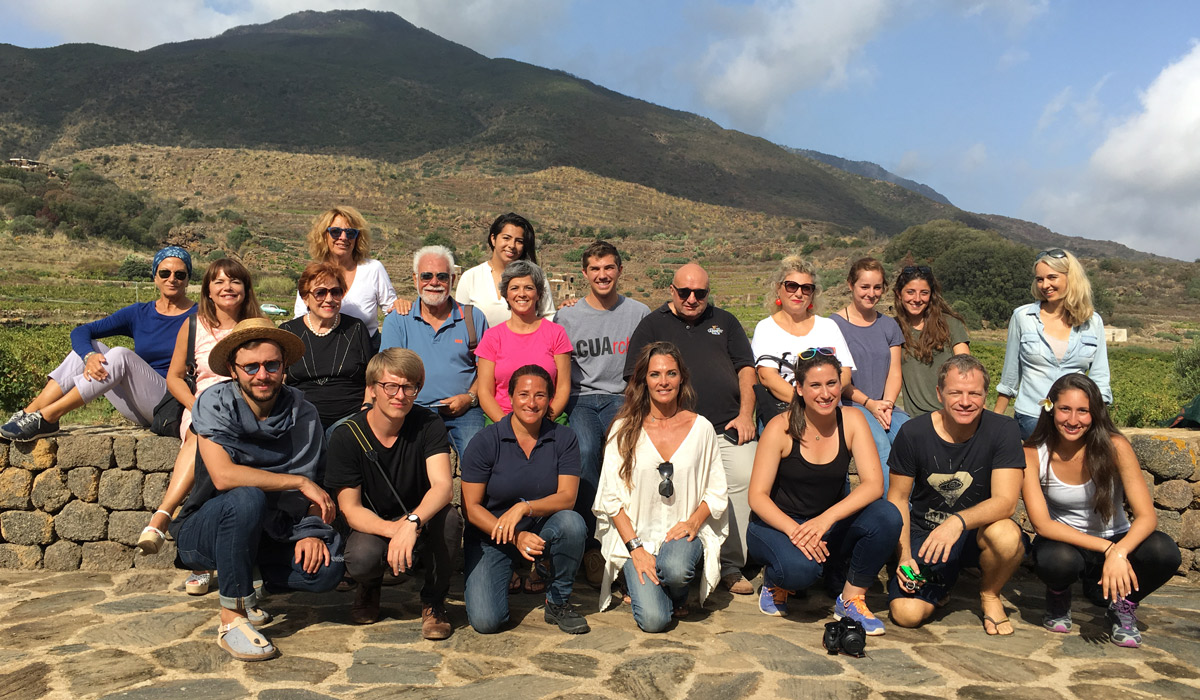 Architecture students on Italian island of Pantelleria
