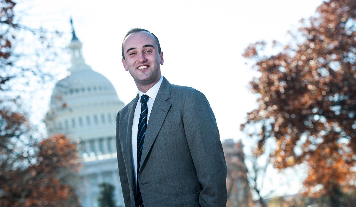 Cullen Murphy interns in the U.S. House of Representatives.