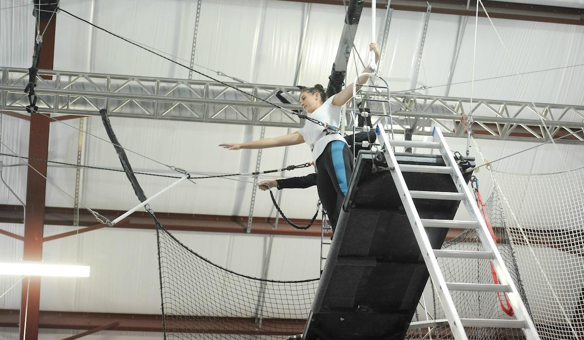 Cardinal Adventures visits trapeze school.
