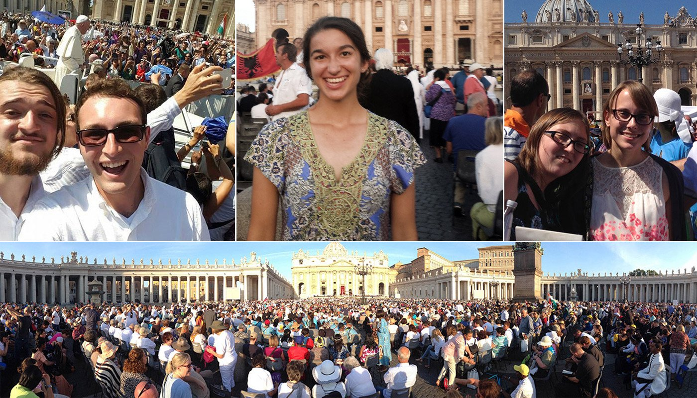 Students Witness Mother Teresa Canonization