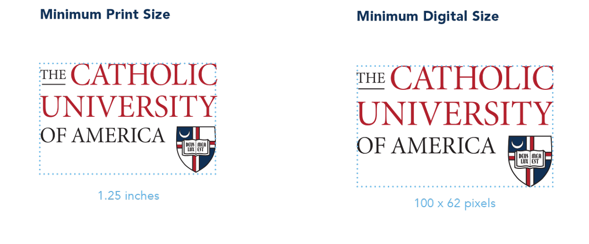 University Ideny Logo Minimum Sizes