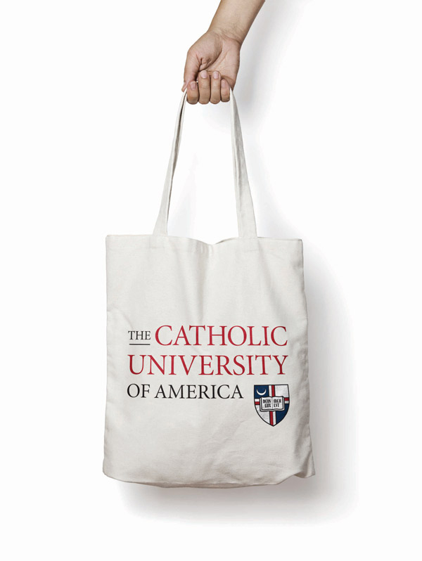 University logo on tote bag