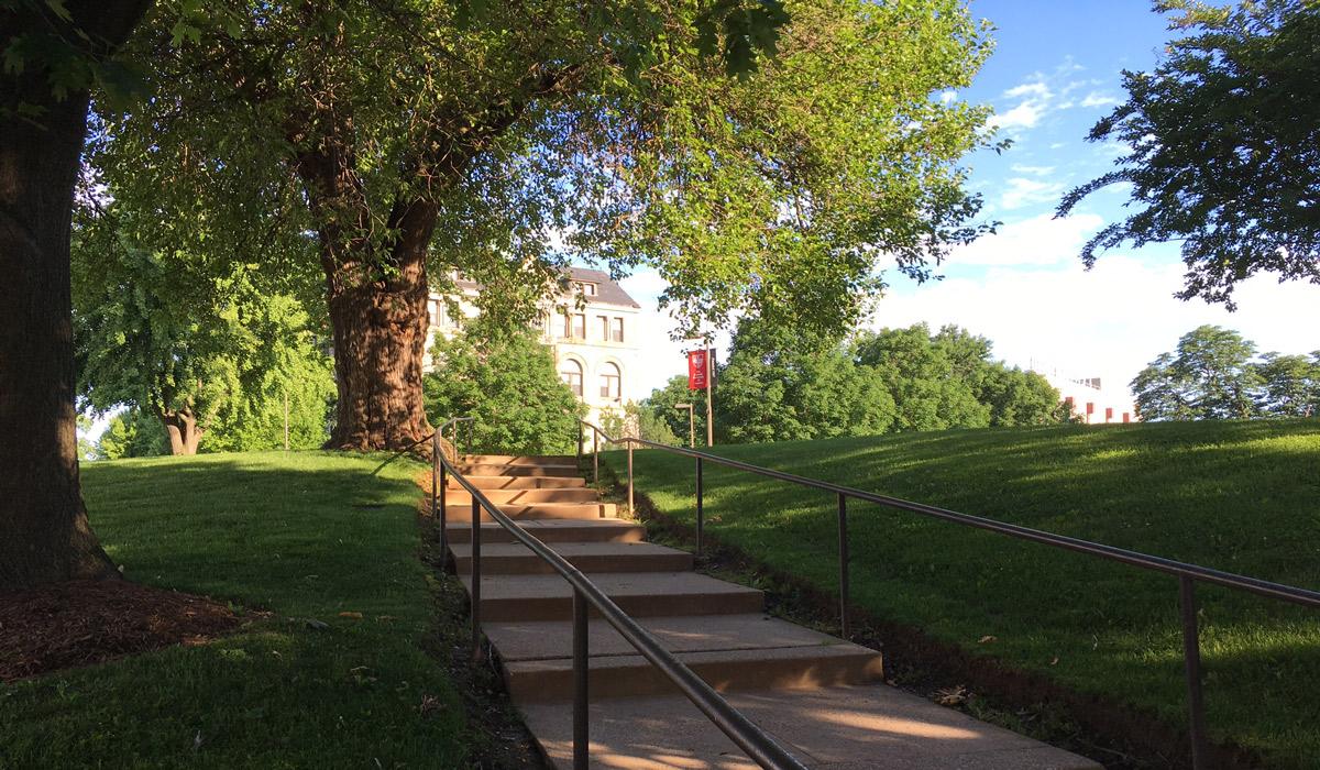Campus stairway