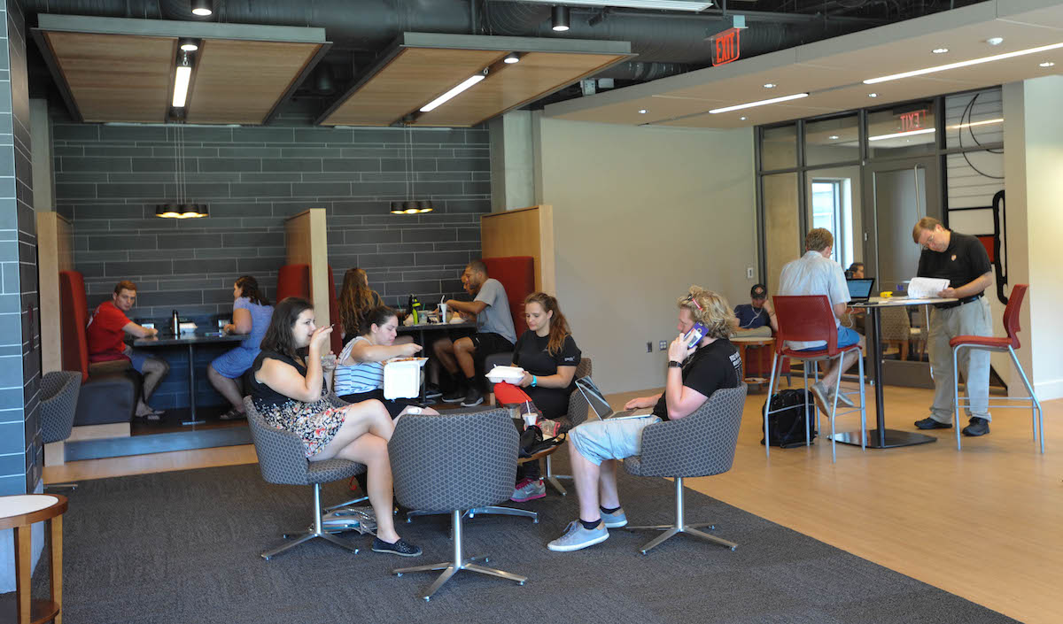 Students enjoy the new Murphy's space.