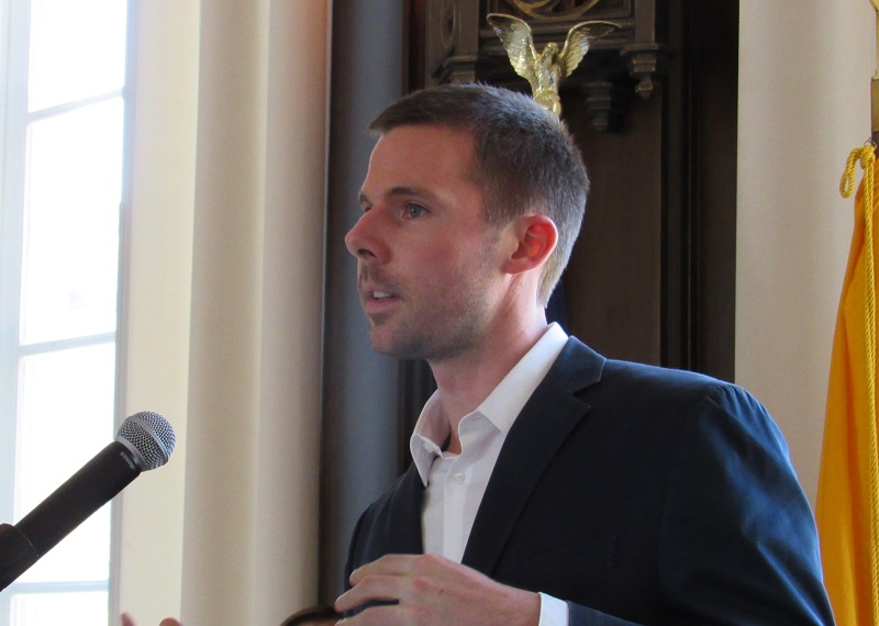 Jonathan Monaghan speaks about his work after receiving the New Faculty Scholar Award