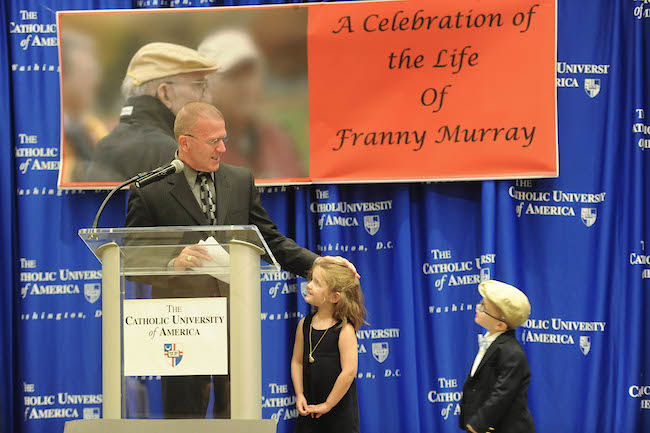 Catholic University pays tribute to Franny Murray