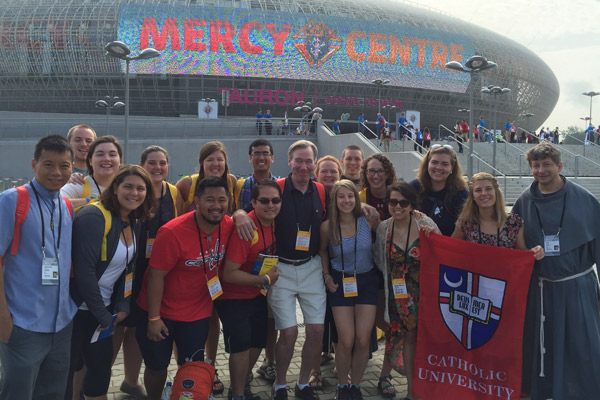 Catholic University students at World Youth Day 2016