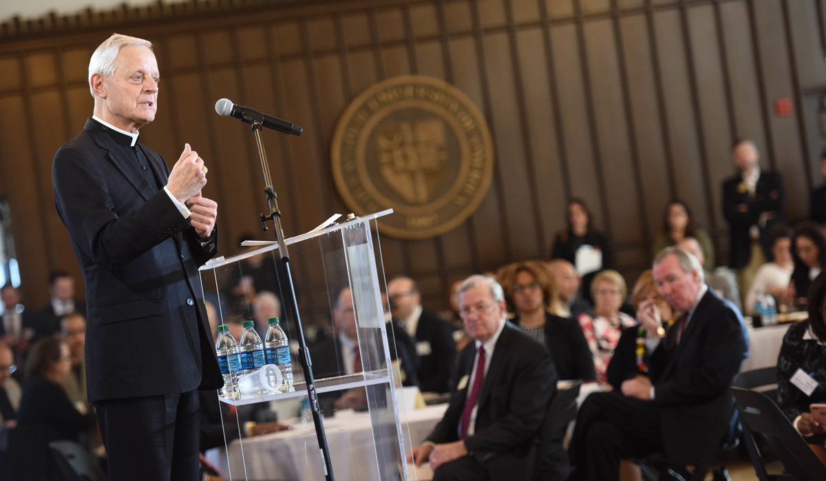 Cardinal Donald Wuerl speaks at ICIC kickoff
