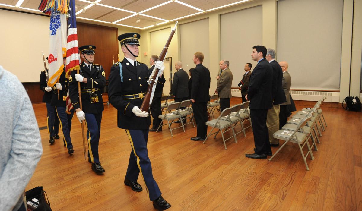 Veterans Day event at Catholic University