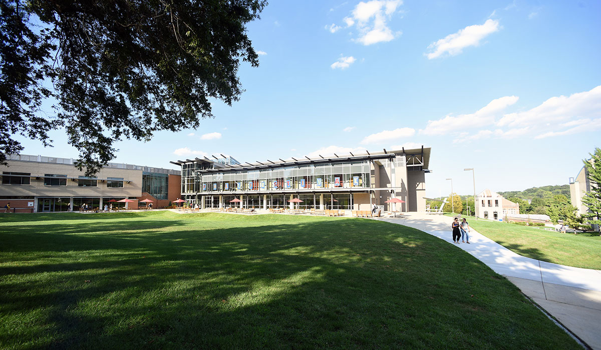 Exterior photo of the Edward J. Pryzbyla University Center