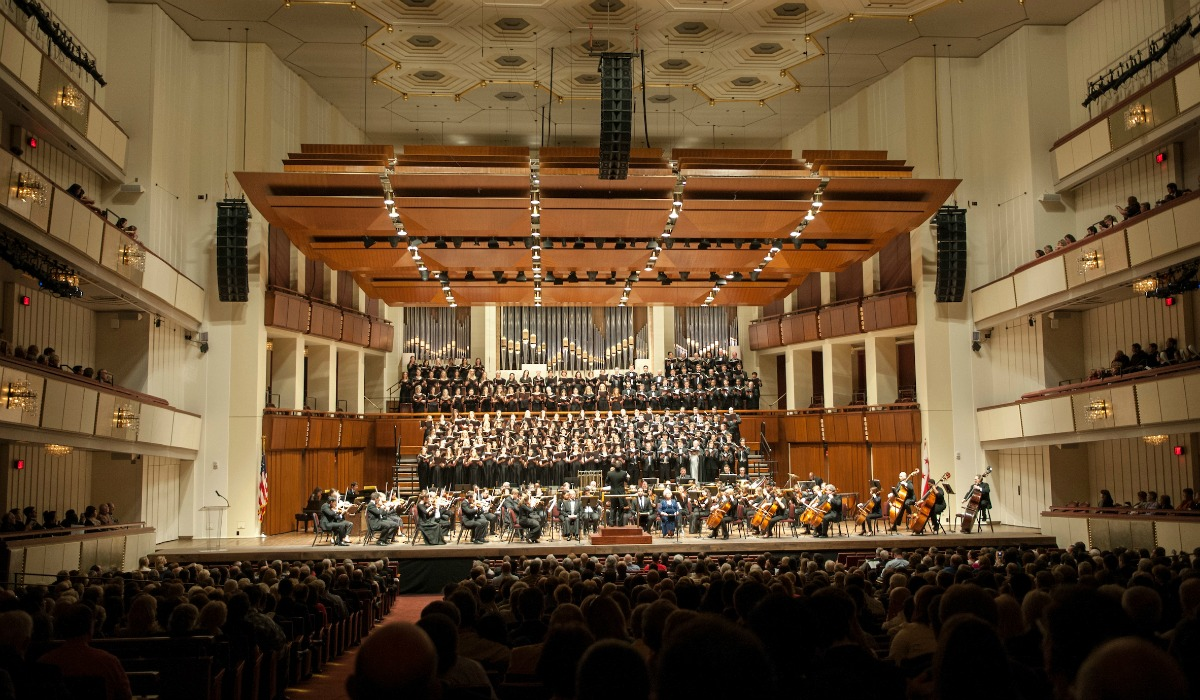 Students perform at the Kennedy Center
