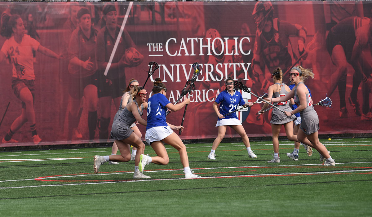 Women's lacrosse match