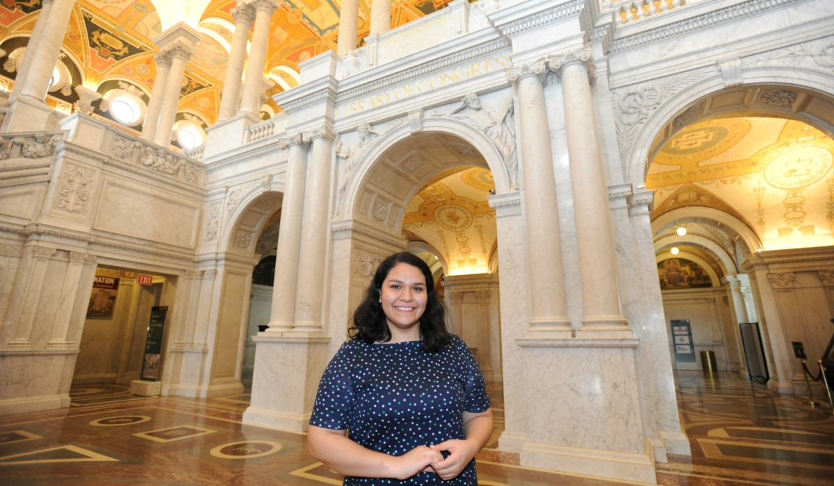 Student at Library of Congress