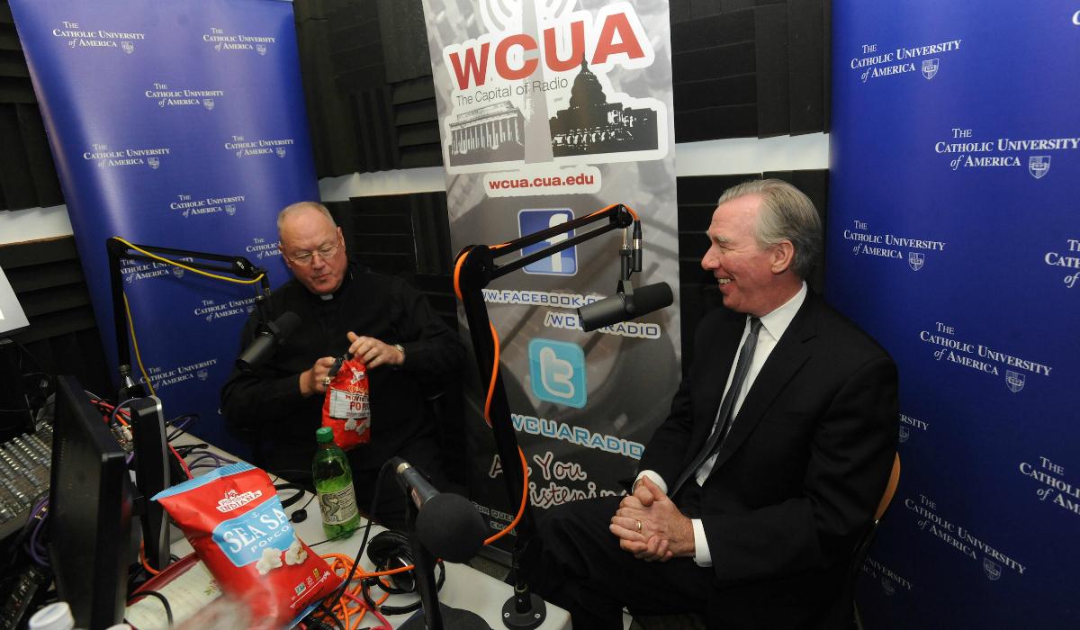 Cardinal Dolan and President Garvey in WCUA