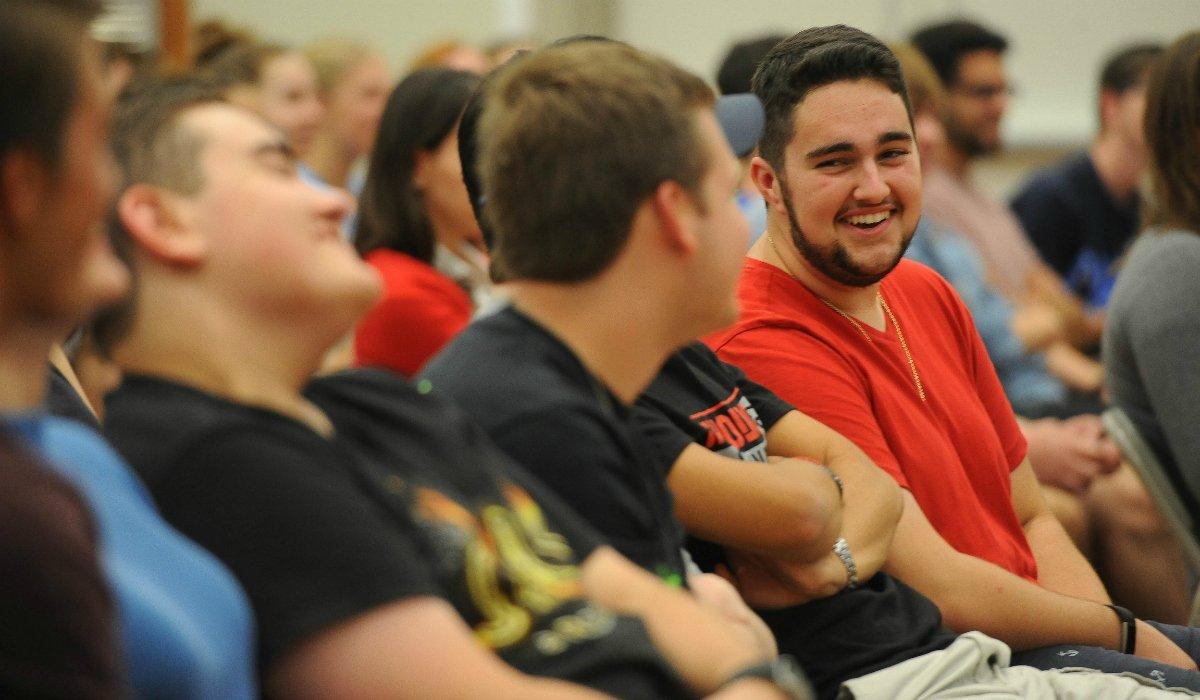 Students enjoying the talk