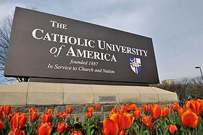 CUA's entrance sign