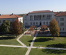 Mullen Library as seen across the CUA mall.