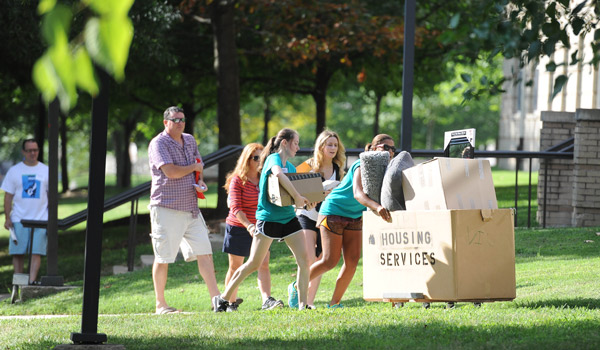 Move-in day at Catholic University